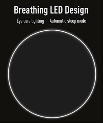 Светящееся кольцо автоматически загорается, когда начинается процесс зарядки мобильного устройства