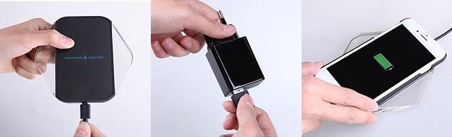 Для того, чтобы устройство начало работать, просто подсоедините к нему USB-кабель и подключите к любому подходящему источнику питания