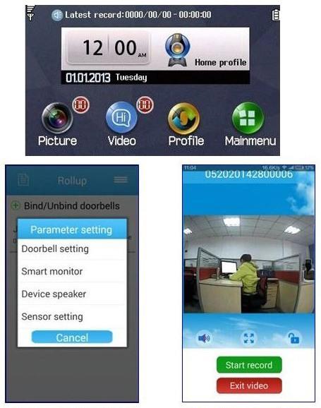 Управлять видеоглазком можно как через меню самого прибора, так и с приложения на смартфоне