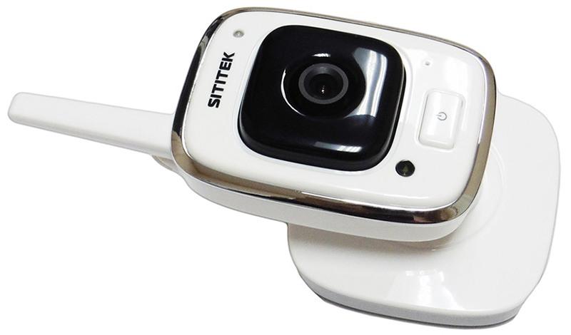 Камера видеоняни оснащена подставкой с регулировкой угла наклона в широких пределах