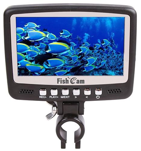 Монитор видеокамеры для рыбалки SITITEK FishCam-430 DVR оснащен регулируемым креплением и удобно расположенными клавишами