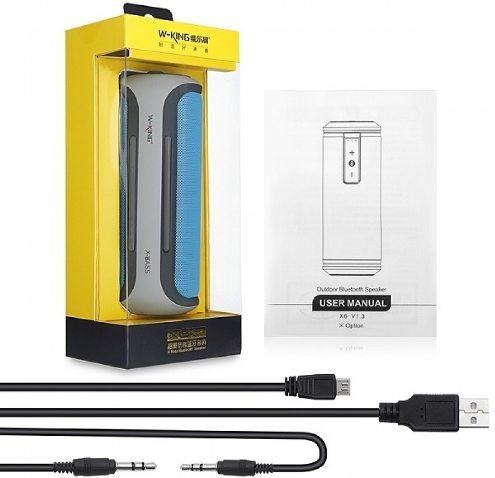 Аудиошнур и USB-кабель входят в стандартную комплектацию колонки