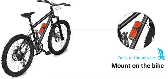 Аудиоколонка фиксируется на раме велосипеда или мопеда при помощи специального крепления, которое приобретается отдельно