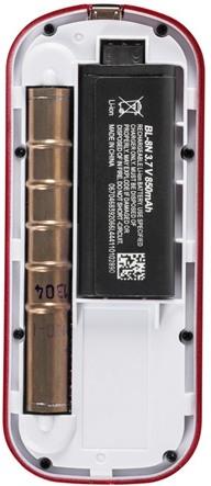 Под задней крышкой расположены счетчик радиации и съемный Li-Ion аккумулятор на 850 мА/ч