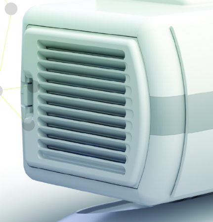 Щели в съемных крышках, расположенных на боковых сторонах аппарата, обеспечивают свободное движение воздушного потока