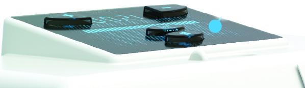 Для управления бактерицидным облучателем предусмотрены четыре кнопки, расположенные на верхней панели