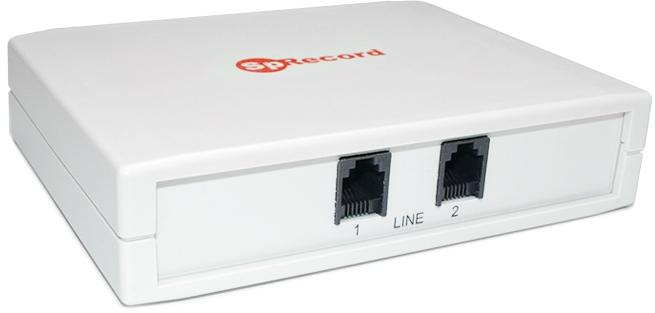 Двухканальный адаптер, входящий в состав системы SpRecord AT2, внешне неотличим от своего собрата SpRecord A2