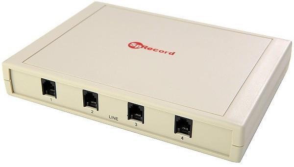 4-хканальный адаптер является базовым элементом системы записи телефонных переговоров SpRecord AT4