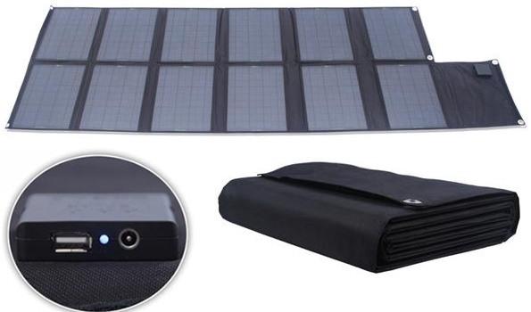 Устройство комплектуется мощной складной солнечной панелью, которая за один солнечный день способна полностью зарядить его аккумулятор
