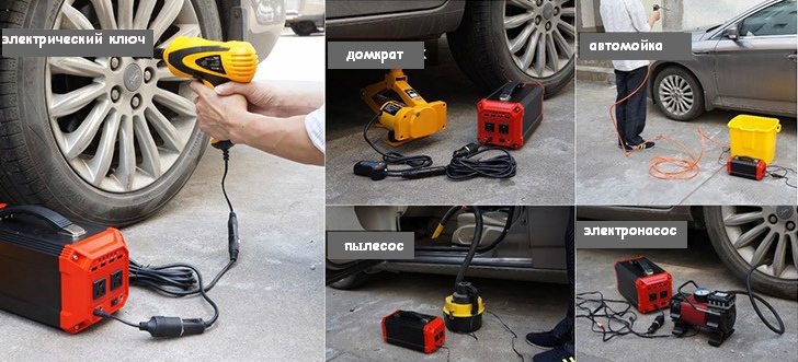 На фото показаны лишь некоторые возможные способы применения предлагаемой модели солнечного генератора владельцами автомобилей