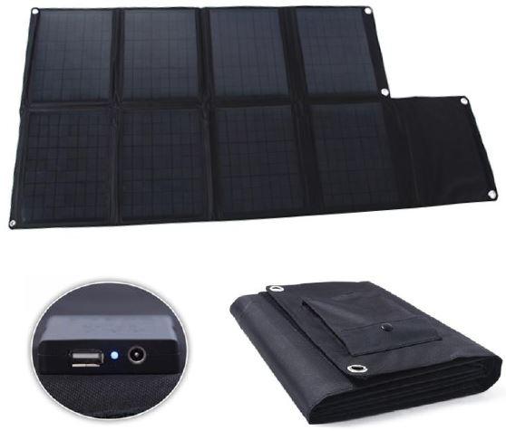 Солнечная панель в раскрытом и собранном состояниях