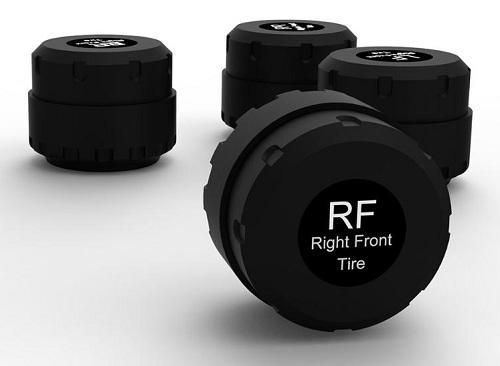 Каждый датчик предназначен для установки на конкретное колесо и имеет соответствующую надпись на корпусе (нажмите на фото для увеличения)