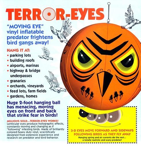 """Голографический шар """"Terror Eyes +"""" — эффективный и самый незатратный способ избавления от птиц"""