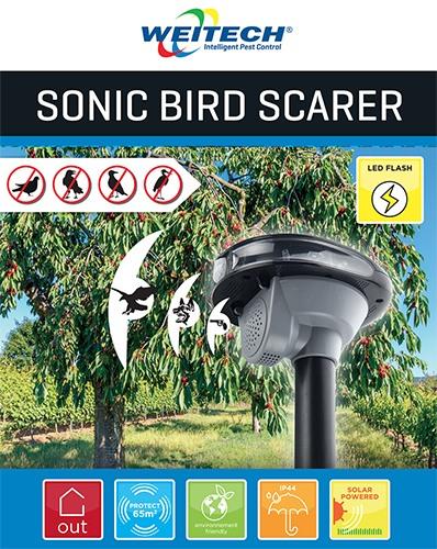 Звуковой  отпугиватель птиц Weitech WK-0025