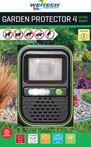Стационарный ультразвуковой отпугиватель собак и других животных Weitech WK0054 Garden Protector 4