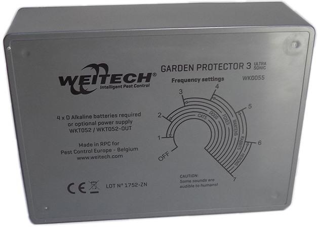 """Ультразвуковой отпугиватель животных """"Weitech WK0055 - Garden Protector 3"""""""