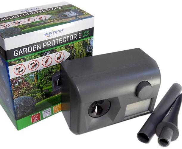 """Ультразвуковой отпугиватель животных """"Weitech WK0055 - Garden Protector 3"""": комплектация"""
