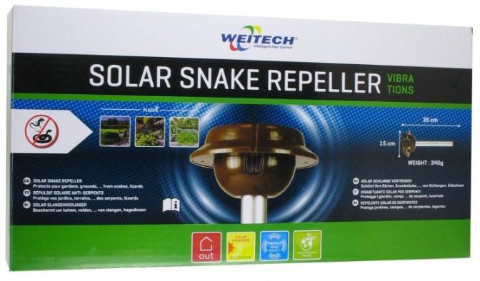 """Вы получите отпугиватель змей """"Weitech WK2030 - Solar Snake Repeller"""" в красочной фирменной упаковке"""