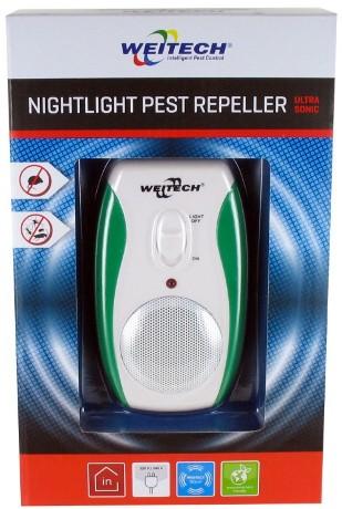 """Отпугиватель мышей и тараканов """"Weitech WK 0190"""" поставляется покупателям в яркой стильной упаковке"""