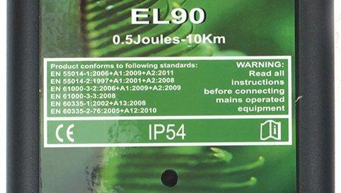 Светодиодный индикатор подачи электрических импульсов располагается в центральной части корпуса основного блока электропастуха