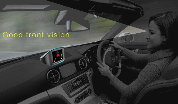 Монитор не ограничивает обзор из салона автомобиля