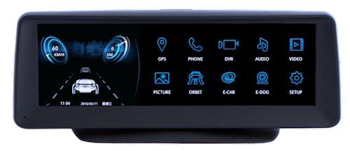 Система оснащена широкоформатным сенсорным дисплеем
