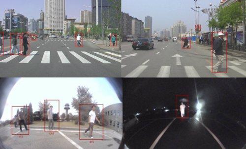 Идентифицирует пешеходов на дороге