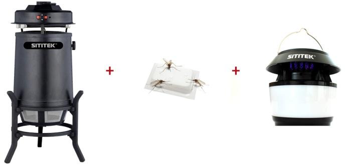 """Данный аттрактант отлично дополнит любой прибор для борьбы с комарами, например, вы можете использовать его совместно с уничтожителями """"SITITEK Москито MV-11"""" и """"SITITEK Садовый-М"""", а также как дополнение к ГРАД БЛЭК"""