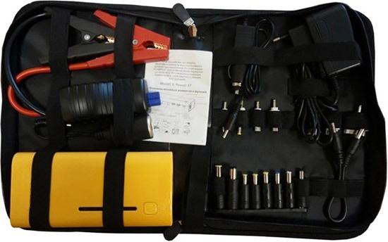 """Зарядное пусковое устройство """"E-POWER-37"""" вместе со всеми переходниками и адаптерами очень удобно хранить и переносить в специальной сумке, которая идет в комплекте поставки"""