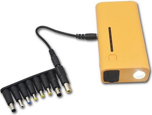 """Пуско-зарядное устройство """"E-POWER-37"""" комплектуется богатым набором переходников для подключения разнообразной электроники"""