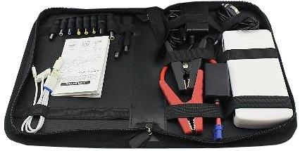 """Зарядное пусковое устройство """"E-POWER Elite"""" вместе со всеми переходниками и адаптерами очень удобно хранить и переносить в специальной сумке, которая идет в комплекте поставки (нажмите на фото, чтобы увеличить)"""