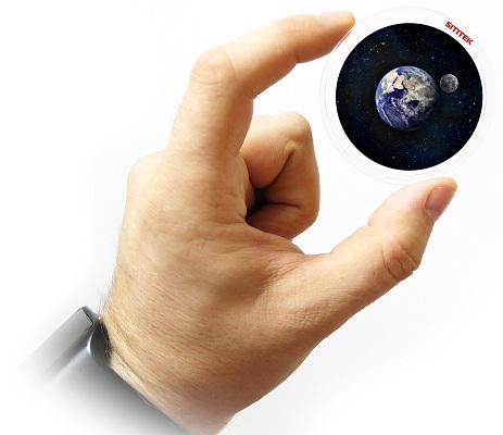 """Дополнительный проекционный диск SITITEK """"Звездное небо с Землей и Луной"""" (нажмите на фото для увеличения)"""