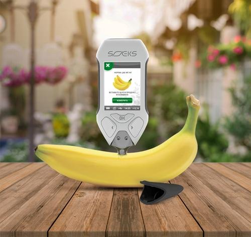 Используйте Эковизор СОЭКС F4 для оценки содержания нитратов в овощах и фруктах