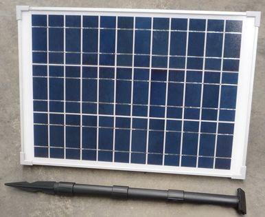 Солнечная панель с собранной стойкой