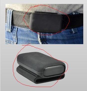 С помощью держателя гаджет также можно закрепить на поясном ремне