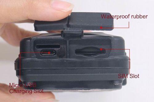 Слот для SIM-карты и разъем питания закрываются резиновой шторкой на застежке