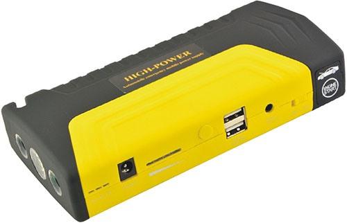 """На верхнюю панель прибора """"High Power TM15"""" вынесены USB-разъемы для питания разных устройств и клеммник (под крышкой) для запуска автомобильного двигателя (нажмите на фото, чтобы увеличить)"""