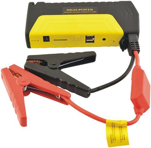 """Для соединения пускового устройства """"High Power TM15"""" с АКБ автомобиля прибор укомплектован зажимами-крокодилами (нажмите на фото, чтобы увеличить)"""