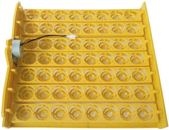 Устройство имеет 2 секции, в каждой из которых установлено по 7 лотков