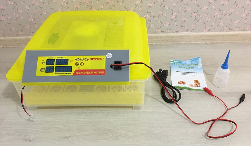 Комплект поставки инкубатора SITITEK 48 (нажмите на фото для увеличения)