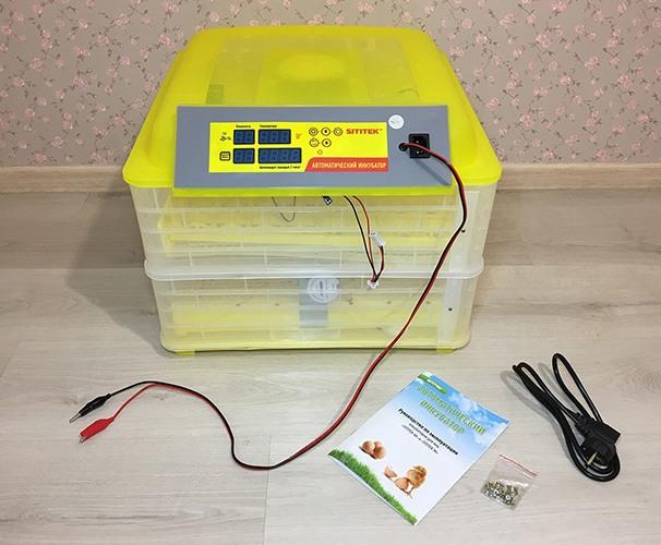 Выводной инкубатор на 96 куриных яиц с термометром, влагомером и автоматическим переворотом SITITEK 96 (нажмите на фото для увеличения)