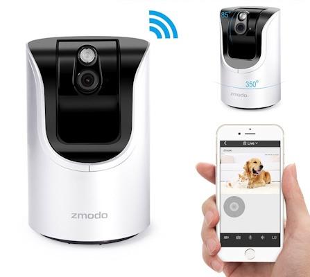 "Камера ""IP Zmodo 360"" соединяется с интернетом по каналу WiFi"