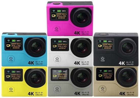 Камера выпускается в различном цветовом исполнении (кликните для увеличения)
