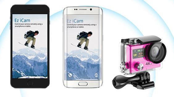 Встроенный модуль Wi-Fi позволяет просматривать изображение с камеры на мобильном устройстве