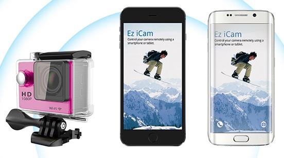Встроенный модуль Wi-Fi позволяет использовать камеру как веб