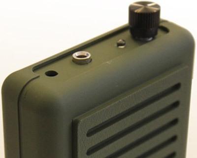 """Настройка электронного манка """"Егерь-6.03ДМ"""" осуществляется регулятором, вынесенным на передний торец прибора"""