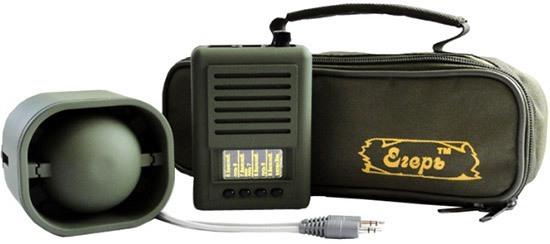 """Электронный манок """"Егерь-6.03ДМ"""" комплектуется внешним динамиком, распространяющим звук на 4 км и эргономичной сумкой для переноски набора"""