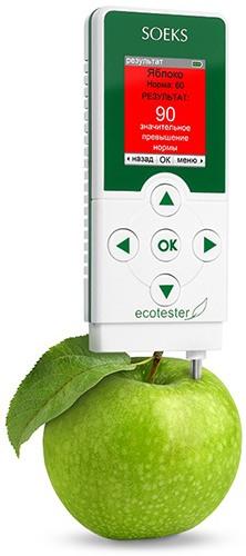"""Экотестер """"Соэкс"""" в режиме оценки содержания нитратов"""