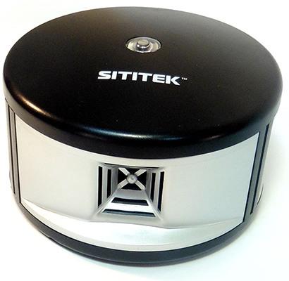 """""""SITITEK 360"""" — один из наших самых мощных универсальных отпугивателей, отличающийся оригинальной конструкцией с тремя ультразвуковыми излучателями"""