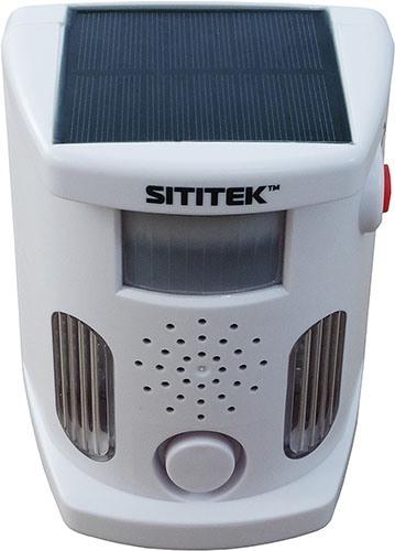 Отличительной чертой устройства является встроенная солнечная панель (увеличение по нажатию)